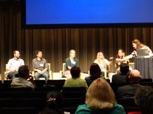 UC Davis graduate students and postdocs discuss their experiences in science communication: Nir Oksenberg, Don Gibson, Destiny Davis, Gena Hoffman, Jenna Gallegos